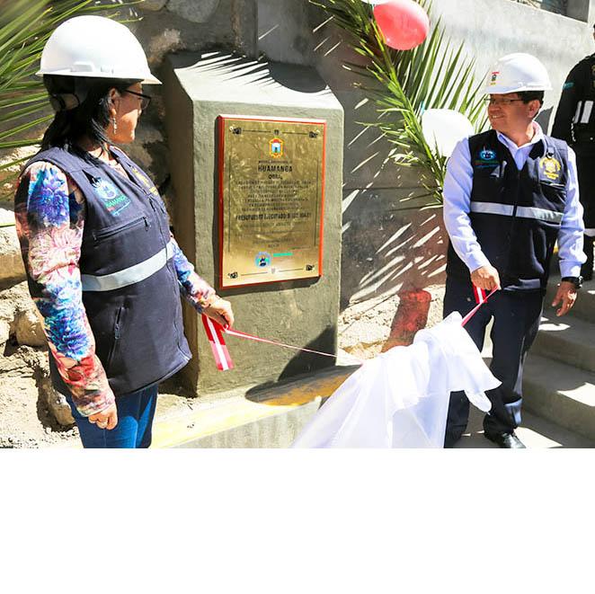 Inauguramos pistas y veredas en Huanca Solar