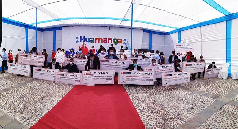 Gobierno transfiere recursos a la Municipalidad de Huamanga