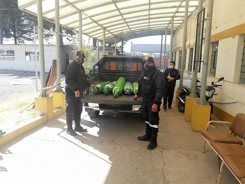100 balones de oxígeno para Huamanga