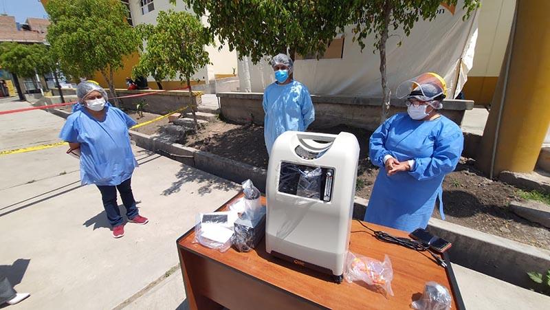 Municipalidad de Huamanga entregó concentradores de oxígeno